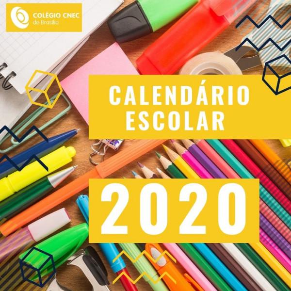 Calendário Escolar 2020 - CNEC Brasília