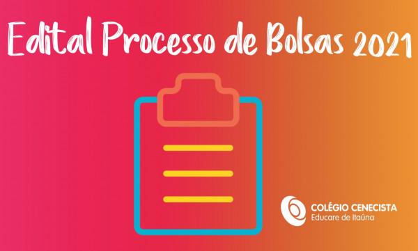 Edital Processo de Bolsas 2021