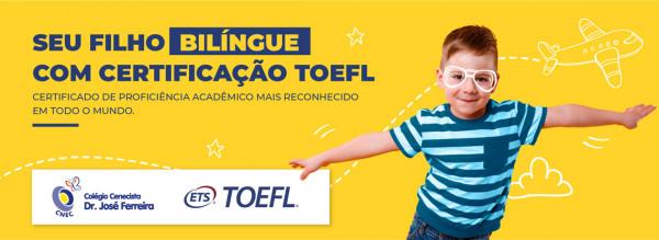 Seu filho bilíngue com Certificação TOEFL