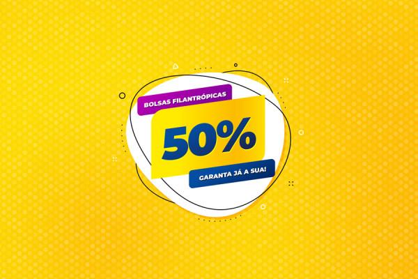 Bolsas de Estudo de 50% para a Educação Básica