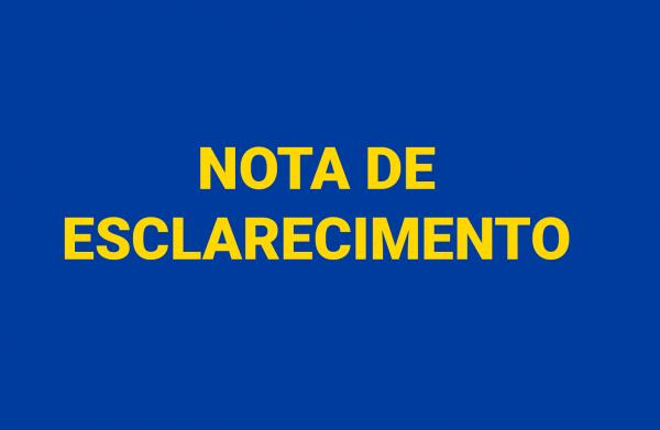 Nota de esclarecimento Colégio Dr. José Ferreira