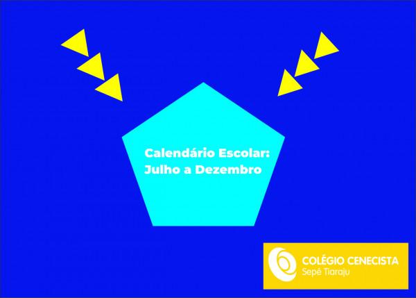Calendário escolar Colégio Sepé:
