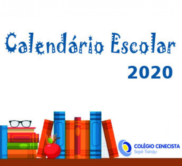 Calendário Escolar de 2020