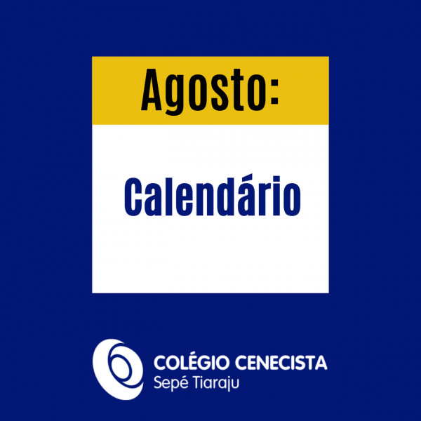Calendário agosto: